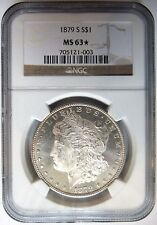 1879 S Silver Morgan Dollar NGC MS 63 Star Cameo Luster Proof Like PL Coin