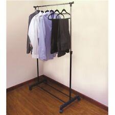 Adjustable Portable Garment Clothing Rack Hanger Stand Rail Shoes Chrome Black