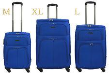 Bagia Koffer Trolley Weichgepäck M L XL 4 Rollen Reisekoffer Stoff Reisetasche