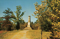 Postcard Centenial Monument Kings Mountian National Military Park South Carolina
