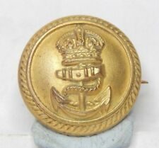 WW1 Royal Navy Officers button Made into A Sweeetheart brooch