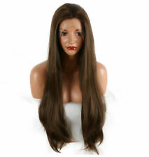AU STOCK Sexy Brown Synthetic Lace Front Wigs Resistant Full Wig Straight Hair