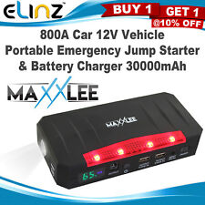 800A Emergency Jump Starter & Battery Charger Car 12V Portable 30000mAh Maxxlee