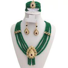 Luxury Algerian Bridal Teardrop Jewelry Set Necklace, Earring, Handmade