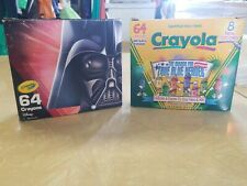 Crayola Crayons 64 With Sharpener Lot Of 2 Star wars True Blue Heroes My