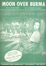 "MOON OVER BURMA Sheet Music ""Moon Over Burma"" Dorothy Lamour"
