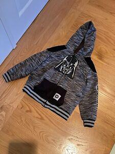 Star Wars Darth Vader Boys Zip Hoodie Size 5 Great Condition