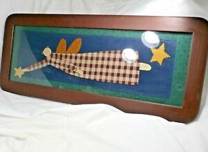 Phill & Earlene Sutton Sawdust & Paint Angel Catching Star Sewn Fabric Folk Art