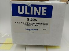 """Clear Plastic 4-1/2"""" x 5 1/2"""" Uline S-205 Packing List Envelope QTY 475"""