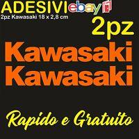 2 Adesivi Kawasaki 636 zx6r zx10r Z900 z750 z1000 er6n versys Stickers ARANCIONE