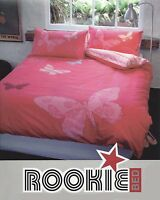 Butterfly Pink Duvet | Doona Quilt Cover Set by Rookie | Embroidered | Double