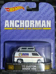 2014 HOTWHEELS - Retro Entertainment E - ANCHORMAN '77 Dodge Van