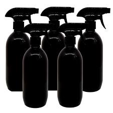 5x 500ml Plastic Gloss Black Trigger Bottle Car Cleaning Hand Spray Pet Beauty