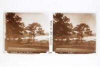Annam Lago Di Dalat Placca Lente Stereo Positivo 6x13cm Vintage