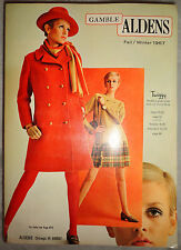 Vtg Gamble Aldens catalog 1967 Twiggy Lauren Hutton Fashion lingerie vogue kids