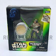 STAR WARS Kenner Hasbro Action Figure - POTF POTF2 - Luke Skywalker Endor (Coin)