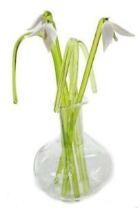Handmade Snowdrops - Glass Flowers