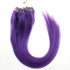 Micro Ring Beads Loop Hair Extensions Double Drawn Real Indian Human Hair 1g US