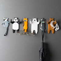 1Pc Cute Animal Self Adhesive Hooks Removal Sticky Wall Hanging Hooks Home Decor