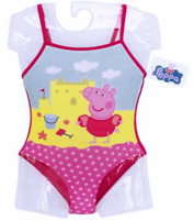 Official Girls Peppa Pig Swimming Costume Beachwear Pool Bathing Suit Bikini