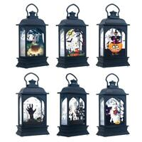 Halloween Vintage Pumpkin Castle Light Lamp Party Hanging Decor LED Lantern Prop