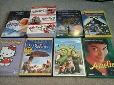 Children's DVD Job Lot Christmas Nativity Wallace Gromit Disney Shrek Amelie