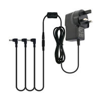 Guitar Effect Pedal Power Supply Adapter UK Plug 9V DC 3Way Splitter Cable Cords