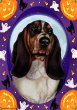 Basset Hound Tri-Color Halloween Howls Flag