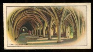 Tobacco Card, CWS, FAMOUS BUILDINGS, 1935, Cellarium Fountains Abbey, #46