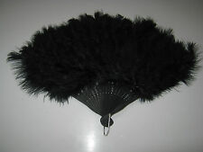 Hand Held Soft Feather Fan Burlesque 20s Flapper Wedding Ladies Fancy Dress