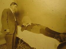 ANTIQUE POST MORTEM ? DOCTOR DR PULSE FOOTBALL ? ATHLETE  HEADLESS BOY OLD PHOTO