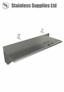 CONTRACT WASHTROUGH 2100mm COMPLETE WITH WASTE FITTING
