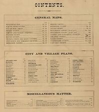 1872 New Jersey State Atlas map old Genealogy Dvd S12
