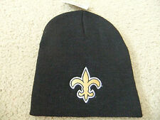 New Orleans Saints Black Officially Licensed NFL Beanie Hat-BNWT's