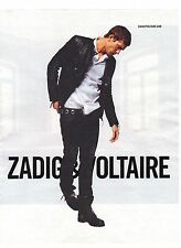 PUBLICITE ADVERTISING 2011 ZADIG & VOLTAIRE vetements homme