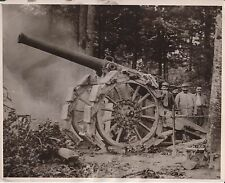 May 27th, 1918 - French Artillery Faces the Germans -Orig World War 1 News Photo