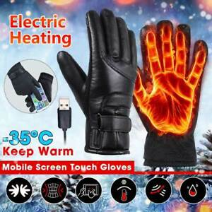 Electric USB Heated Gloves Rechargeable TouchScreen Waterproof Motorcycle Winter
