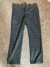 Men's Grey Checked Smart Trousers - 32R (River Island)