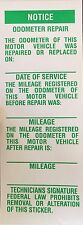 Odometer Mileage Change Label Sticker Notice Speedometer Cluster Replacement
