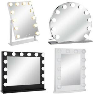 VEVOR Theaterspiegel Hollywood Spiegel Schminkspiegel Beleuchtung Standspiegel