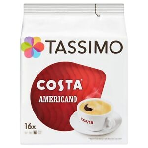 Tassimo Costa Americano Coffee Pods 16 Servings 144g - Sold Worldwide from UK