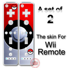 Pokemon Pokeball Skin Decal Vinyl Sticker Cover #2 for Nintendo Wii Remote