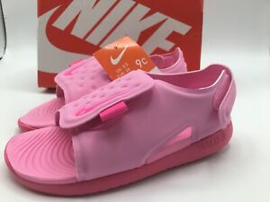 Nike Toddler Size 9C Sunray Adjust Pink Toddler Water Sandals   AJ9077-601 New!