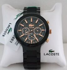 Lacoste Men's Chronograph Borneo Black Resin Composite Bracelet Watch 2010769