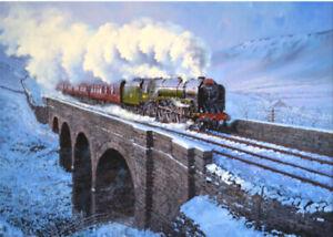 BR Britannia Class Ais Gil Steam Train Blank Christmas Birthday Card