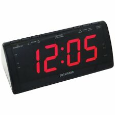 New LED Jumbo Display Dual Alarm Clock AM/FM Radio With Dimmer & Snooze Function