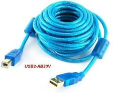 20 Foot AB Hi-Speed USB 2.0 Blue Cable, CablesOnline USB2-AB20V