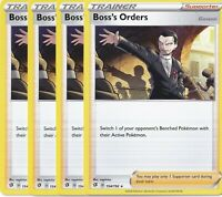 4x Boss's Orders 154/192 Playset from Pokemon Trainer's Toolkit Near Mint