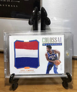 Joel Embiid 2017-18 National Treasure Colossal Materials Patch 21/25 Jersey# 1/1