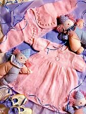 Baby Knitting Pattern copy DRESS Bolero JACKET 3 Ply